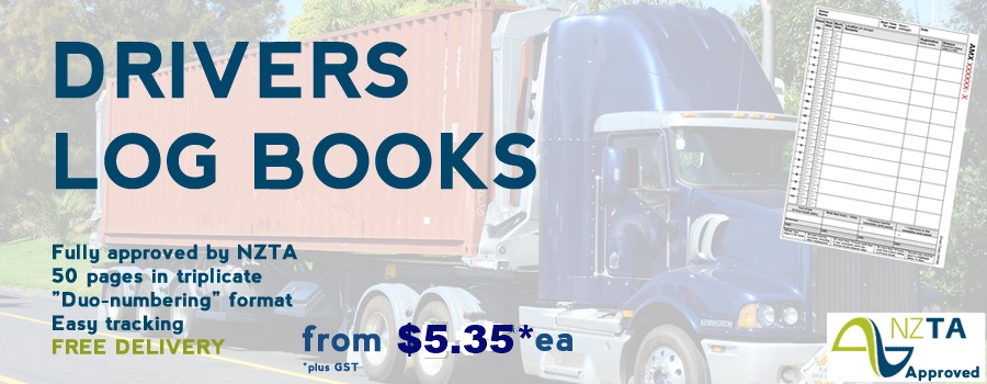 Order Drivers log books in New Zealand